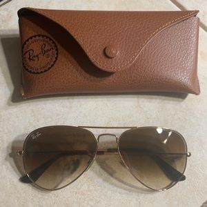 Light brown gradient Ray-Bans